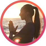 enjoying yoga on the beach florida